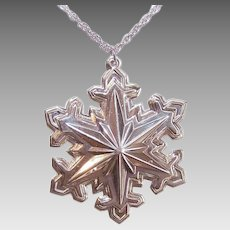 STERLING SILVER Ornament - Wallace Sterling, 1990, Snowflake, Limited Edition