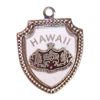 Sterling Silver Enamel State Charm - Hawaii Travel Shield