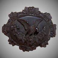 Antique Black Gutta Percha Mourning Pin