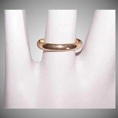 Vintage 14K GOLD Ring - Wedding Band, Priscilla Brand, Milgrain Edge