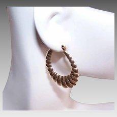 Single 14K GOLD Earring - Hoop, Scalloped, Shrimp, Pierced - $40 Per Gram