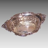 Gorham, Cromwell, STERLING SILVER Pierced Nut Dish - No Monogram, 25.9 Grams