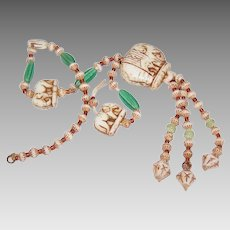 ART DECO Necklace Section by Max Neiger - Elephants and All Kinds of Beads!