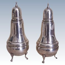 Reed & Barton, STERLING SILVER, Salt & Pepper Shakers, Glass Insert, Weighted