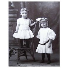 VICTORIAN Cabinet Card - Big Sis with Brother? or Sister?