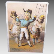 VICTORIAN Trade Card - Higgins German Laundry Soap, HMS Pinafore