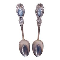 Wallace Silversmiths, Lucerne Pattern, STERLING SILVER, Serving Spoon, Monogram M