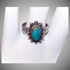 Vintage STERLING SILVER Ring - Turquoise, Southwest, Southwestern, Indian