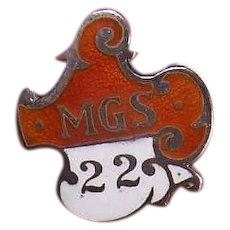 Sterling Silver Enamel Lapel Pin Member Pin - MGS 22