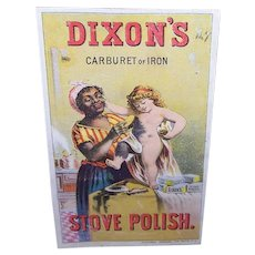 VICTORIAN Trade Card - Dixons Stove Polish, Black Mammy, Golden Haired Child