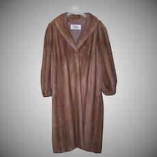 Vintage AUTUMN HAZE Ankle Length Mink Coat - Size 16/18  - Orig Retail $12,000