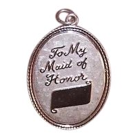 Sterling Silver 'To My Maid of Honor' Charm