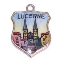 800 Silver Enamel Lucerne Charm