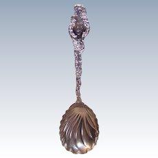 Durgin, STERLING SILVER, Watteau Pattern, Scalloped Serving Spoon, No Monogram