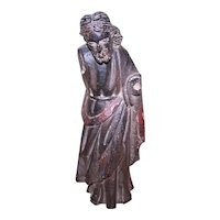 Antique HAND CARVED and Painted Santos Statue - Possibly Jesus of Nazareth