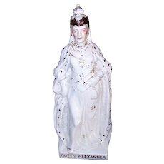 ANTIQUE EDWARDIAN Staffordshire Figurine - Queen Alexandra of England