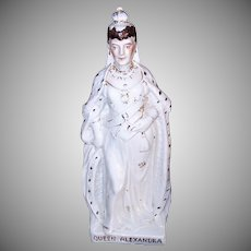 ANTIQUE EDWARDIAN Staffordshire Figurine - Queen Alexandra of England