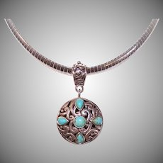 Barse Sterling Silver Turquoise Pendant