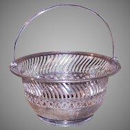 Gorham Sterling Candy Basket Monogram H