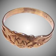 Ostby & Barton 10K Gold Baby Ring