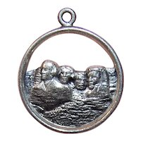 Sterling Silver Souvenir Charm for Mount Rushmore