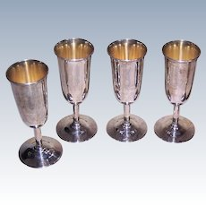Carl Webster, STERLING SILVER, Set/4 Cordial Cups, Classic Design, 66 Grams