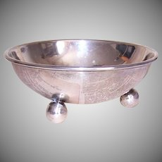 P Lopez G, MEXICAN, Sterling Silver, Candy Bowl, Nut Bowl, No Monogram, 128.4 Grams