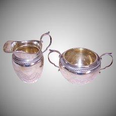 Vintage Gorham Sterling Silver Cream and Sugar - Design 481