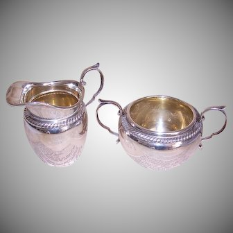 Vintage Gorham Sterling Silver Cream and Sugar - Design 481