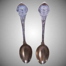 2 Wood & Hughes Sterling Silver Spoons - Angelo Pattern