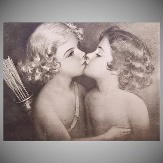 Cupid Kissing Psyche Framed Print