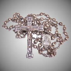 Creed Solid Sterling Silver Rosary