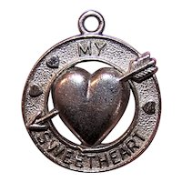 Sterling Silver Charm for Valentine's Day - My Sweetheart