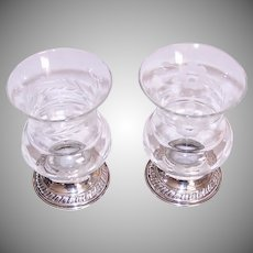 Sterling Silver Glass Candleholders