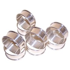 ONE (1) Alvin Sterling Silver Napkin Ring - Round Design S17 Unengraved