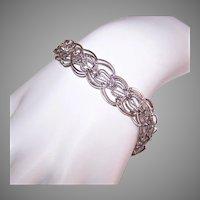 Sterling Silver Double Link Starter Charm Bracelet by JB