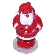 Vintage Plastic Santa Claus Ornament