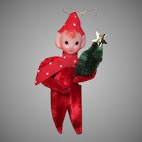 1950s Made in Japan Pixie Chenille Ornament