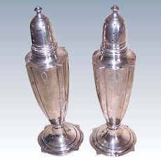 Sterling Silver Salt Pepper Shakers