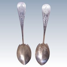 Bailey & Co Sterling Silver Serving Spoons