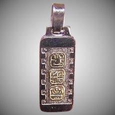 Chichen Itza Sterling Silver Pendant