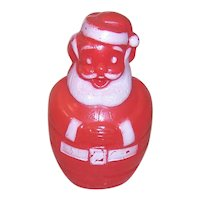 Vintage Soft Plastic Santa Claus Candy Container Savings Bank