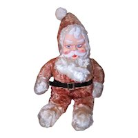 Vintage Holiday Plush Christmas Figure Santa Claus