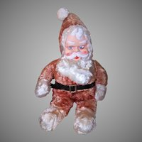 Vintage Holiday Plush Toy Santa Claus