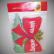 Happy Holidays Christmas Fan