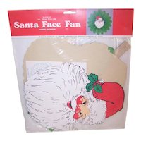 Amscan Vintage Santa Claus Face Honeycomb Fan Christmas Decoration in Original Unopened Package