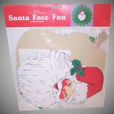 Santa Face Honeycomb Fan