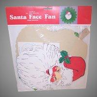 Retro Santa Claus Face Honeycomb Fan