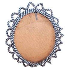 Antique Indian Handbeaded Frame