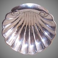 Vintage Sterling Silver Shell Dish
